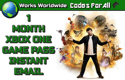 Xbox One Game Pass 1 Month Subscription Trial Instant Delivery, Read Description