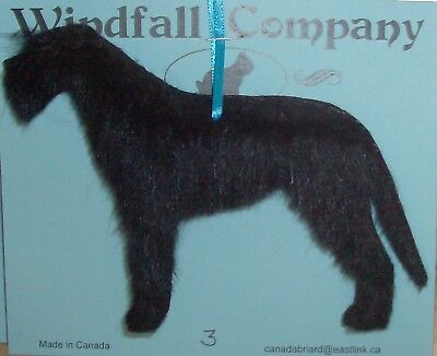 Black Irish Wolfhound Dog Soft Plush Christmas Canine Ornament # 3 by WC