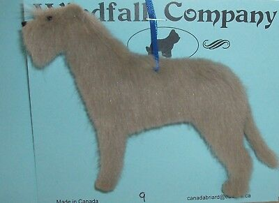 Light Grey Irish Wolfhound Dog Soft Plush Christmas Canine Ornament # 9 by WC