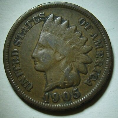 1905 Indian Head Cent in Average Circulated Condition    DUTCH AUCTION