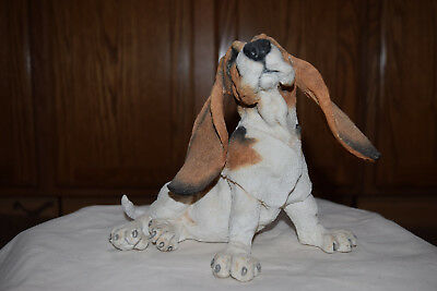 A Breed Apart Large sitting Basset Hound- Excellent Condition