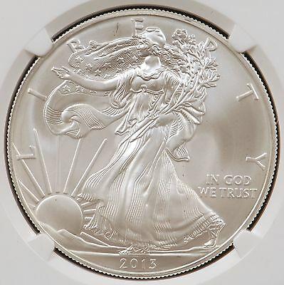 2013 (S) Silver American Eagle 1 Oz. .999 Fine Silver NGC MS70 Early Releases