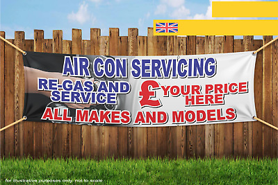AIR CON Service Repair All Makes Models Price Heavy Duty PVC Banner Sign 2116