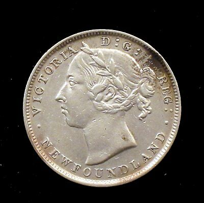 1900 Extremely Fine (XF) Newfoundland Silver 20 Cent - cc129