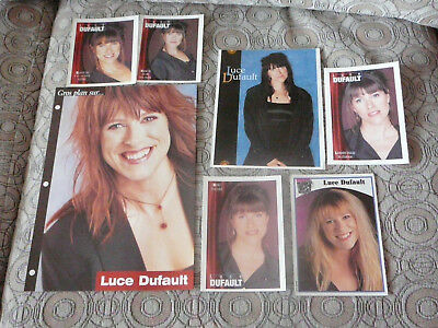 LUCE DUFAULT PIN UP POSTERS PHOTOS AFFICHES 7.5 x 10.5 + 6 CARDS CLIPPINGS