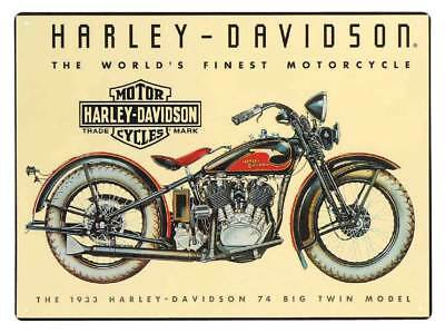 Harley-Davidson 74 Big Twin Tin Metal Sign 12.5 x 17 Inch  2010011
