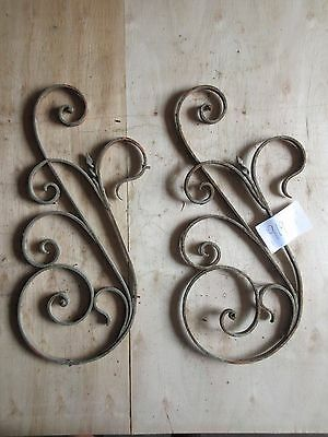 Antique Victorian Iron Gate Window Panel Fence Architectural Salvage #919