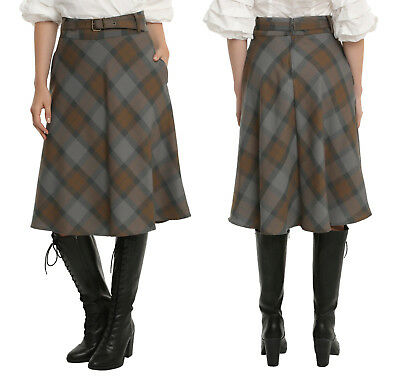 Outlander Claire Fraser plaid tartan skirt Hot Topic Torrid, S XXL 2XL 2X 3XL 3X