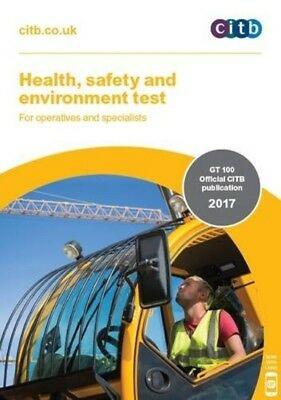 NEW 2017 CSCS Test Card Book Operatives And Specialists Health And Safety CITB