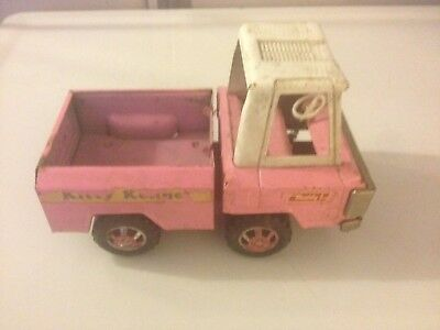 """Vintage 1970's Cast-Iron Buddy """"Kitty Kennel"""" Toy Truck"""