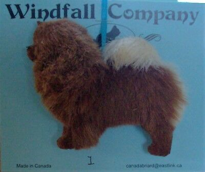 Red Chow Chow  Dog Plush Christmas Ornament # 1 by WC