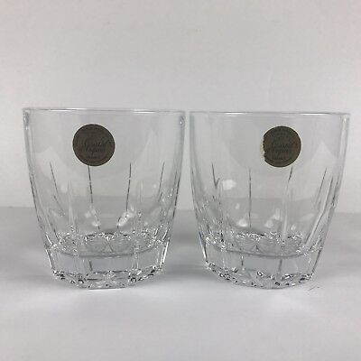 Cristal d'Arques Glasses Set Of 2 Whiskey Cocktail Drinkware Lead Crystal 24%