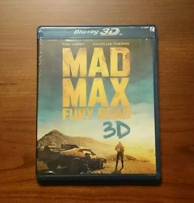 Mad Max Fury Road Blu-ray 3d + Blu-ray disc (3d + 2D) Brand New Factory Sealed