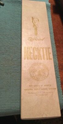 1950's Official Boy Scout Necktie With Box