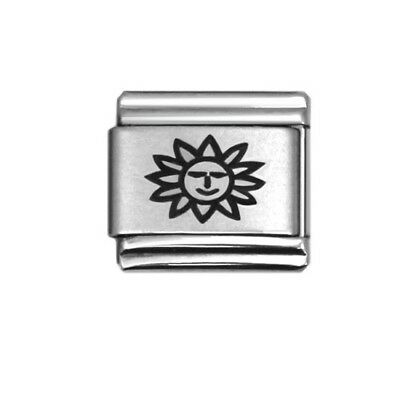YOU ARE MY SUNSHINE Enamel Italian 9mm Charm LV074 Fits Nomination Classic