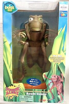 "DISNEY PIXAR ""A BUG'S LIFE"" TALKING HOPPER ROOM GUARD FIGURE (ThinkWay Toys)"