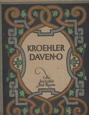 1922 Kroehler Daven-O Naperville Kankakee Illinois FURNITURE catalog sofa beds +