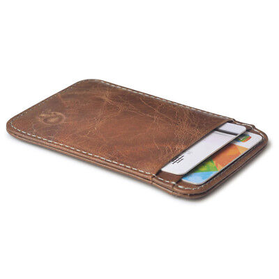 Hot Fashion Purse Men's Genuine Leather Thin Slim Wallet ID Credit Card Holder