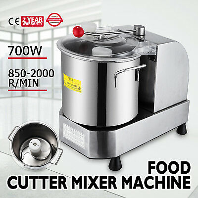 Commercial Cutter Mixer 9L 2000R/Min Food Grinder for Meat Vegetables and Fruit