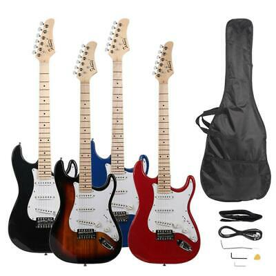 New Glarry ST Maple Fingerboard Electric Guitar with Case and Accessories Pack