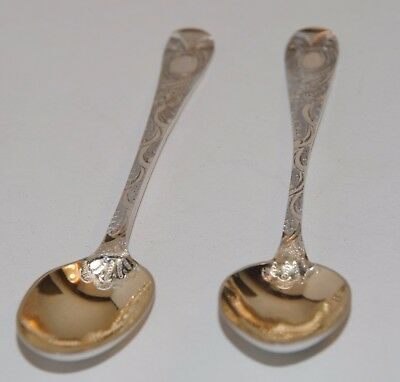Lovely Pair of Antique Sterling Silver Spoons, Victoria, Hallmarked London 1887