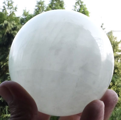 75MM Natural White Fluorite Crystal Sphere Glow In The Dark Stone