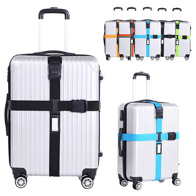 Luggage Packing Cross Belt Adjustable Baggage Suitcase Protector Strap G