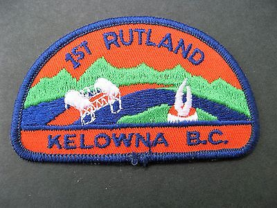 Boy Scouts Canada 1St Rutland Kelowna British Columbia Embroidered Patch Cubs