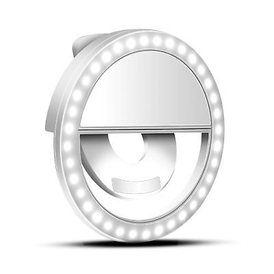 Led Ring Light For Iphone Samsung Phone Clip on Selfie Flashlight Rechargeable