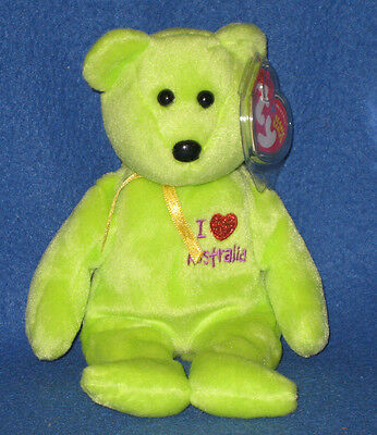 7625b65ff60 TY I LOVE AUSTRALIA the BEAR BEANIE BABY - MINT with MINT TAG ...