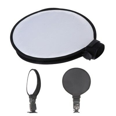 "16""/40cm Portable Soft Box Diffuser Flash Round Speedlite Dome For Canon Nikon"