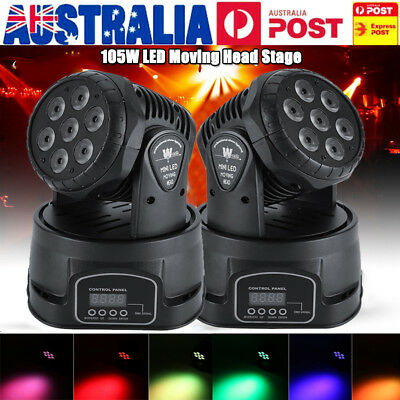 RGBW 105W LED Moving Head Stage Par Light 4in1 Led Lamp  DMX512 Disco DJ Party