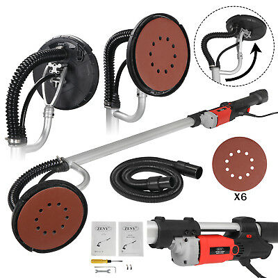 Electric Drywall Sander 800W Adjustable Variable Speed with Vacuum and 6 Pads