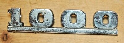 Austin Morris Mini 1000 Mk2 Badge Emblem - Genuine Original Rare Classic Vintage