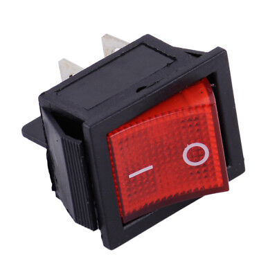 AC 110V-220V ON/OFF Snap-in 2 Position 4 Pin  Boat Rocker Switch Red Light