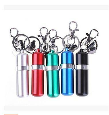 Portable Mini Stainless Steel Alcohol Burner Lamp With Keychain Keyring QW
