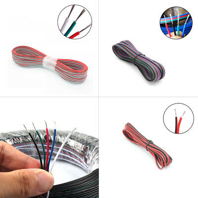 1~100M 2/3/4/5 Pin Wire Extension Cable for 3528 5050 WS2811 2812 RGB LED Strips