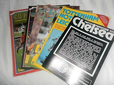 All The Programmes From Spurs Tottenham Hotspurs Wining 1982 Fa Cup Year