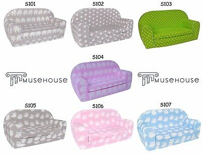 Foldable Childrens Foam Sofa Bed with pillow and poufs included S1