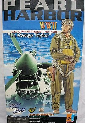 "Dragon collectable action figure 1/6 scale 12"" WW2 US Airforce P40 Pilot"