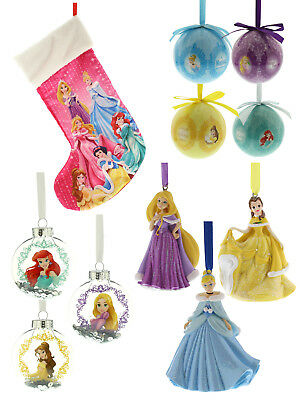 Disney Princess Bauble Hanging Christmas Tree Decorations  Princess Girls Gift