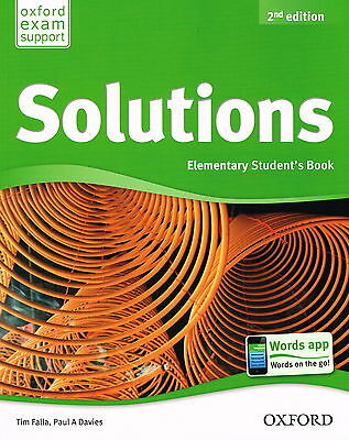 Oxford SOLUTIONS 2nd Edition Elementary Student's Book | Falla Davies @BRAND NEW