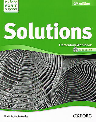 Oxford SOLUTIONS 2nd Edition Elementary Workbook w Audio CD | Falla Davies @NEW@