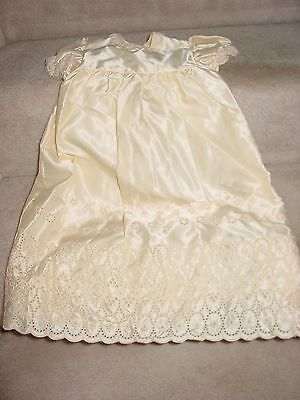 Vintage Madonna Antique White Baby Christening Gown With Matching Jacket