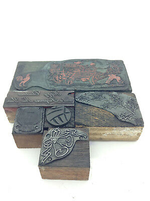 Vintage Priting Pressing Priting Blocks Stampers
