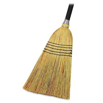 "Genuine Joe Lobby Blend Broom, 11"" W, 56"" Handle, Natural 58563"