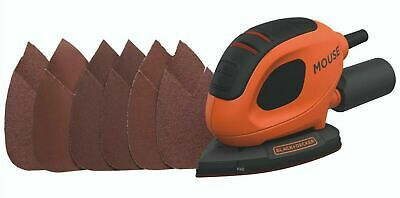 Black & Decker KA161BC 55W Mouse Palm Sander With Free Extra 5pc Sanding Sheets