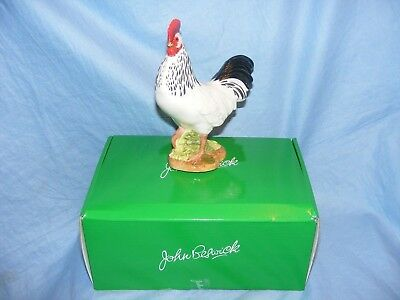 John Beswick Farmyard Light Sussex Cockerel JBB13BW Figurine Ornament GIFT NEW