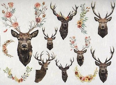 Rice paper - Stags - for Decoupage Scrapbook Sheet