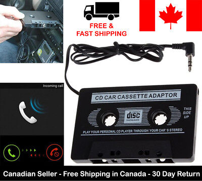 New Car Cassette Tape Adapter Converter 3.5mm AUX MP3 iPhone Tablet Stereo Music